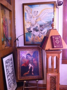 Two pictures of Archangel Michael donated to the shrine