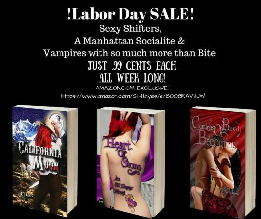 SI Hayes- 3 books Labor Day Sale