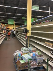 Empty Bread aisle- Hurricane Irma September 2017