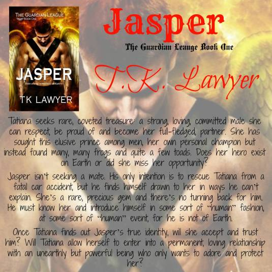 Jasper with book blurb