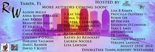 Tampa Readers & Writers List of Authors Banner