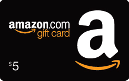 This image has an empty alt attribute; its file name is amazon-five-dollar-gift-card.jpg
